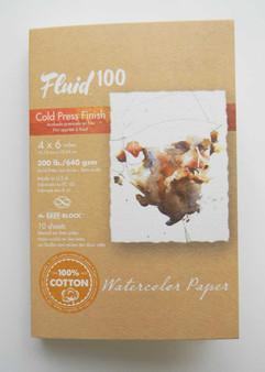 """Fluid 100 EZ Block 300lb Cold Press 4x6"""""""