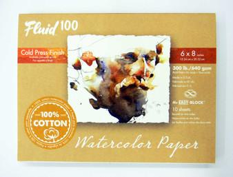 """Fluid 100 EZ Block 300lb Cold Press 6x8"""""""