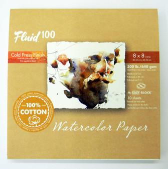 """Fluid 100 EZ Block 300lb Cold Press 8x8"""""""