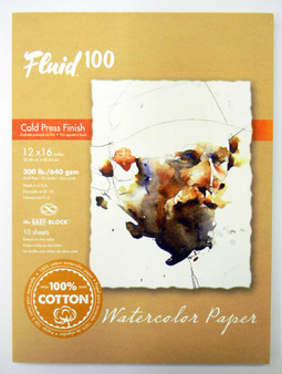 """Fluid 100 EZ Block 300lb Cold Press 12x16"""""""