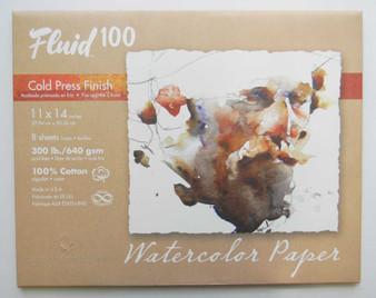 """Fluid 100 Pochette 300lb Cold Press 11x14"""""""