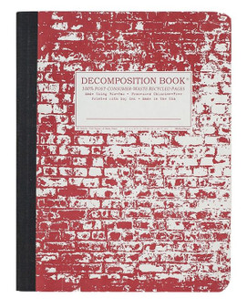 Michael Roger Press Decomposition Blank Notebook Brick in the Wall