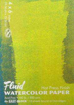 Fluid Watercolor Easy Block Hot Press 4x6