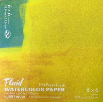 Fluid Watercolor Easy Block Hot Press 6x6