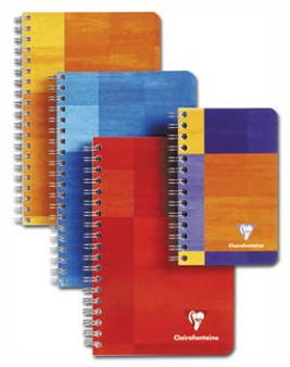 Clairefontaine Pad Wire-Bound Open-Sided 3.5x5.5 Ruled