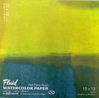 Fluid Watercolor Easy Block Hot Press 12x12