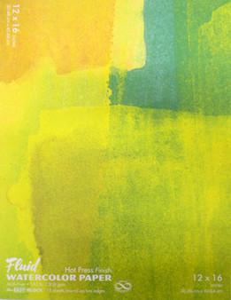Fluid Watercolor Easy Block Hot Press 12x16