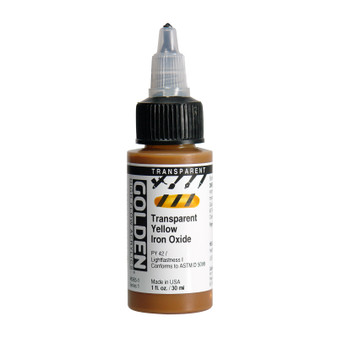 Golden High Flow Acrylic 1oz. Transparent Yellow Iron Oxide