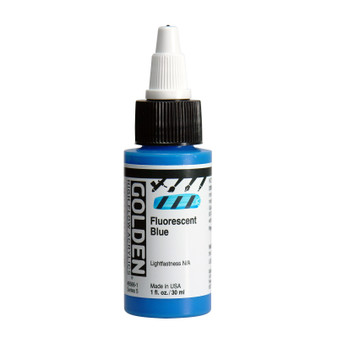 Golden High Flow Acrylic 1oz. Fluorescent Blue