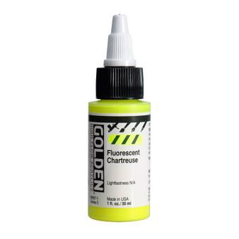 Golden High Flow Acrylic 1oz. Fluorescent Chartreuse
