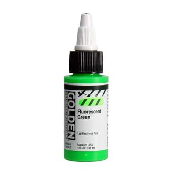 Golden High Flow Acrylic 1oz. Fluorescent Green