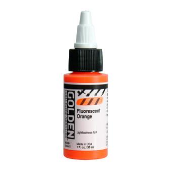 Golden High Flow Acrylic 1oz. Fluorescent Orange