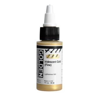 Golden High Flow Acrylic 1oz. Iridescent Gold (Fine)