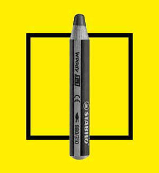 Stabilo Woody 3-In-One Watercolor Pencil Yellow
