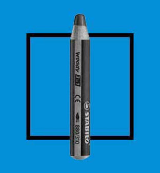 Stabilo Woody 3-In-One Watercolor Pencil Blue