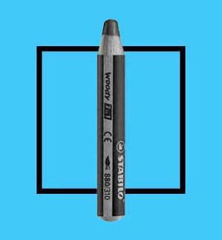Stabilo Woody 3-In-One Watercolor Pencil Cyan Blue