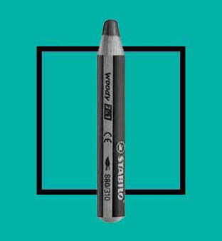 Stabilo Woody 3-In-One Watercolor Pencil Turquoise