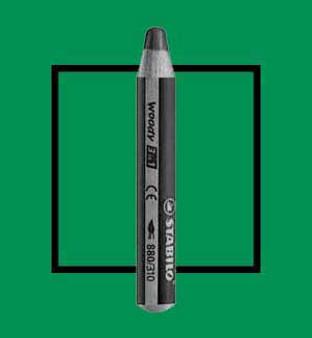 Stabilo Woody 3-In-One Watercolor Pencil Dark Green