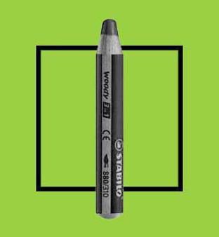 Stabilo Woody 3-In-One Watercolor Pencil Light Green