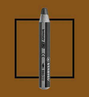 Stabilo Woody 3-In-One Watercolor Pencil Burnt Umber