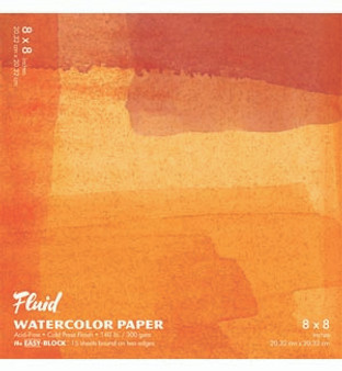 Fluid Watercolor Easy-Block 8x8