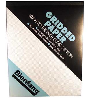 Bienfang Grid Pad 8/8 8.5x11 50 Sh