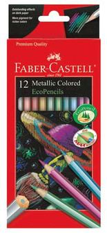 Faber-Castell Red Label 12 Color Metallic EcoPencils