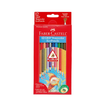 Faber-Castell Grip Watercolor EcoPencils 12pk