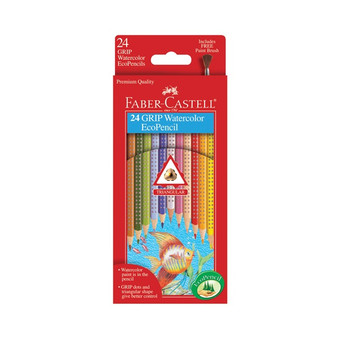 Faber-Castell Grip Watercolor EcoPencils 24pk