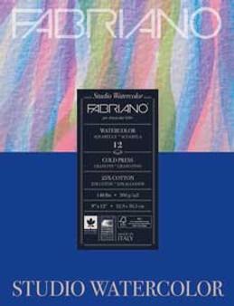 Fabriano Studio Watercolor Pad 8x10 140lb Cold Press