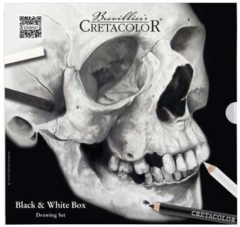 Cretacolor Black & White Tin