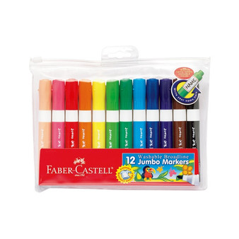 Faber-Castell Red Label Washable Broad Markers Set of 12