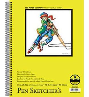 Bee Paper Sketch Pad Pen Sketchers 8.5x11 50sh