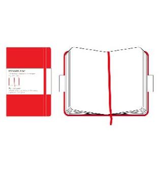 Moleskine Classic Notebook Red Pocket Plain