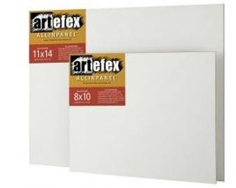 Artefex ALLINPANEL Acrylic-Primed Extra-Fine Texture Linen Panel 12x16