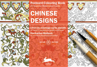 Pepin Postcard Colouring Book Chinese Designs