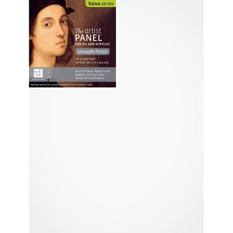 Ampersand Artist Series Smooth Primed Panel Flat 12x16