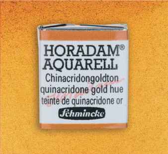 Schmincke Horadam 1/2 Pan Watercolor Quinacridone Gold Hue - 217