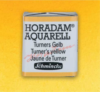 Schmincke Horadam 1/2 Pan Watercolor Turner's Yellow - 219