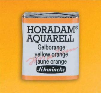Schmincke Horadam 1/2 Pan Watercolor Yellow Orange - 222