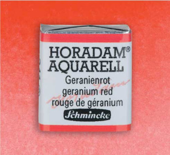 Schmincke Horadam 1/2 Pan Watercolor Geranium Red - 341