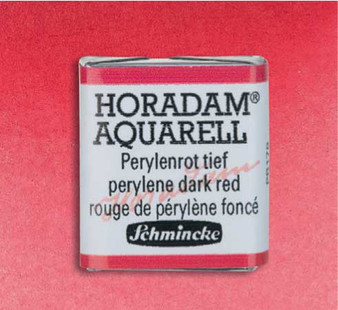 Schmincke Horadam 1/2 Pan Watercolor Perylene Dark Red - 344