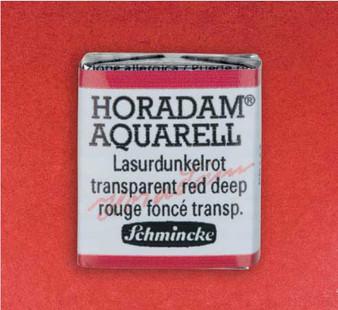 Schmincke Horadam 1/2 Pan Watercolor Transparent Red Deep - 355