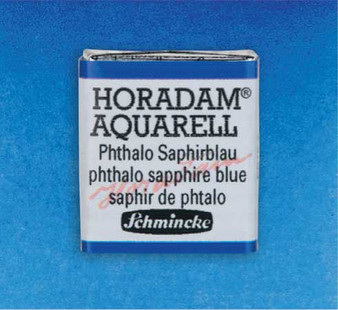 Schmincke Horadam 1/2 Pan Watercolor Phthalo Sapphire Blue - 477