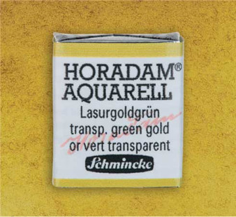 Schmincke Horadam 1/2 Pan Watercolor Transparent Green Gold - 537