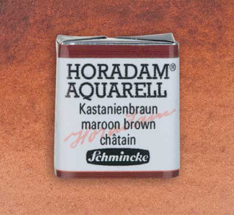 Schmincke Horadam 1/2 Pan Watercolor Maroon Brown - 651