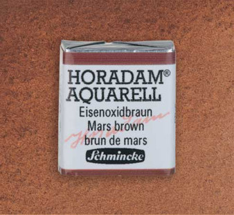 Schmincke Horadam 1/2 Pan Watercolor Mars Brown - 658