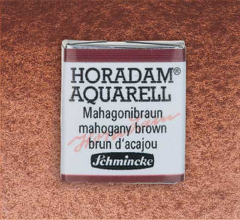 Schmincke Horadam 1/2 Pan Watercolor Mahogany Brown - 672