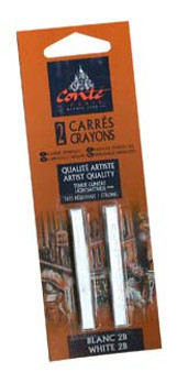 Conte Crayon 2-Pack (Traditional): White 2B