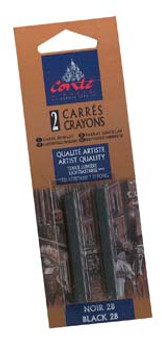 Conte Crayon 2-Pack (Traditional): Black 2B